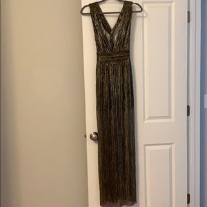 Black and Gold Long Dress